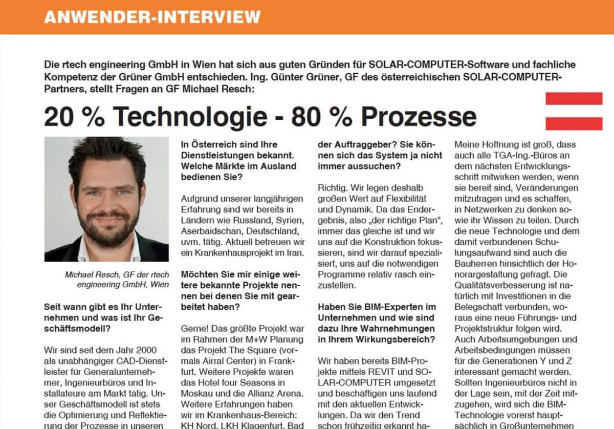 20% Technologie - 80% Prozesse