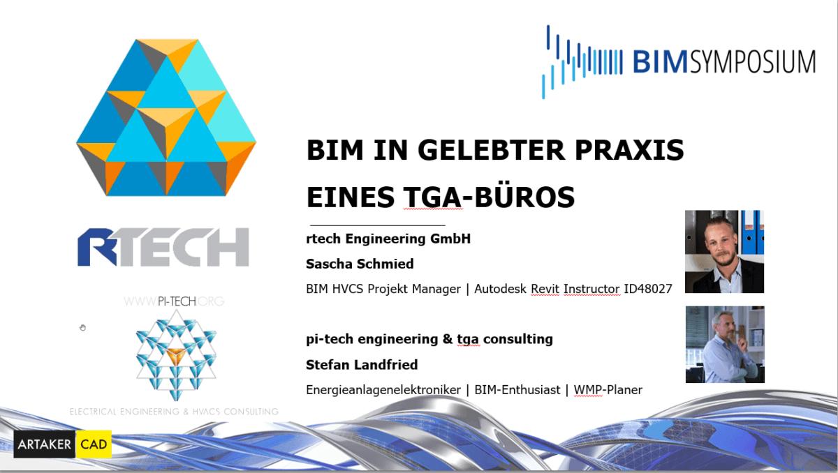 """Vortrag BIM Symposium Artaker """"BIM in der Praxis in einem TGA Buero"""""""